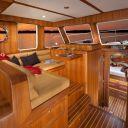 Helmsman 37 Sedan 2 Strm Interior companion from galley